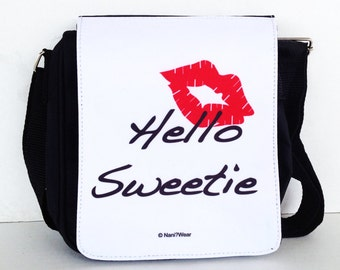 Doctor River Song Who Messenger Bag Small: Hello Sweetie