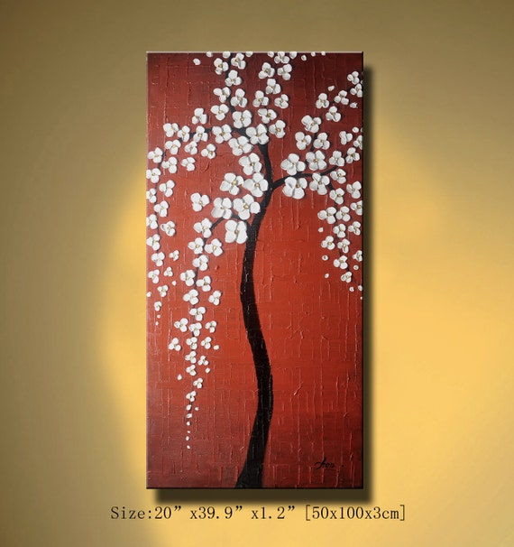 Original Abstract Painting, Impasto Landscape Thick Textured Modern Palette Knife fine art by Chen 0172