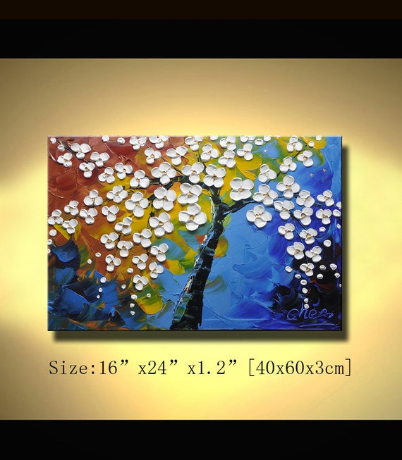 contemporary wall art, Modern Textured Painting,Palette Knife paintings,Home Decor,Painting O on Canvas  by Chen 0190