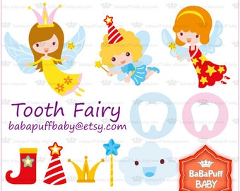 Buy 2 Get 2 Free ---- Tooth Fairy Set 1 ---- Personal and Small Commercial Use ---- BB 0196