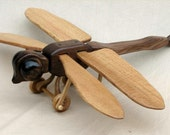 Wooden Dragonfly Pulltoy