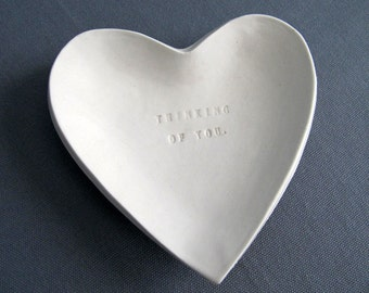Sympathy Gift - Thinking of You Heart Shaped Bowl - Gift Packaged