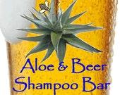Aloe & Beer Honey Shampoo Bar