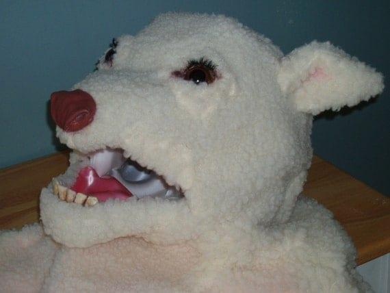 SALE Lamb Head Mask