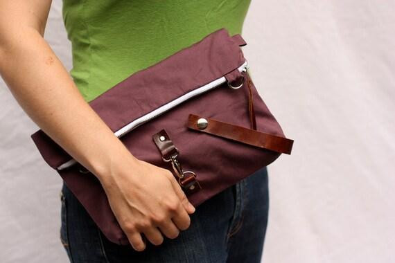 Bike Bag - Zip Top Handlebar Bag with Shoulder Strap