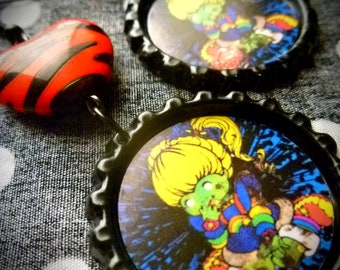 Rainbow Zombie earrings