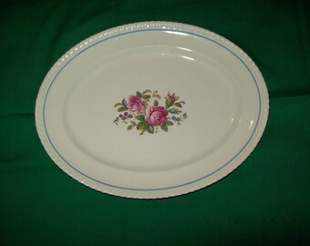 """One (1), 12 3/8 """" Oval Platter, from Johnson Bros., in the WindsorWare Pattern, F. B. & Co., England"""