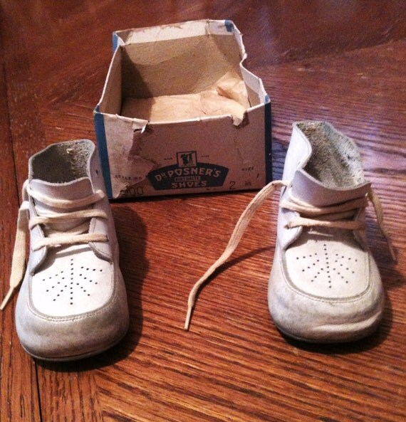 Vintage Leather Baby Shoes