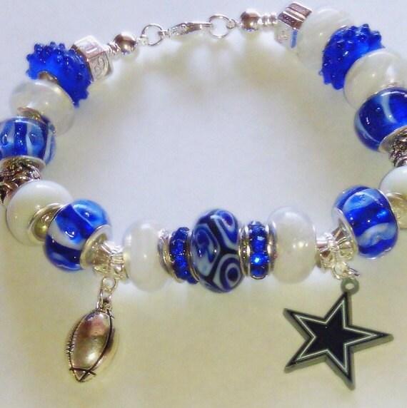 dallas cowboys nfl european charm bracelet by. Black Bedroom Furniture Sets. Home Design Ideas