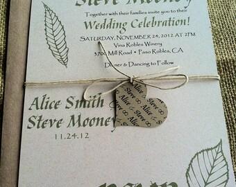Perforated Wedding Invitations Etsy