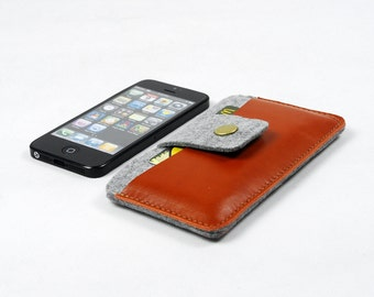 Surprise Code: DISCOUNT Felt iPhone 6 Plus Sleeve iPhone 6 s case Samsung S6 S5 s4 Note 2  3 4 Case iPhone Pouch Wallet Custom Made E1614