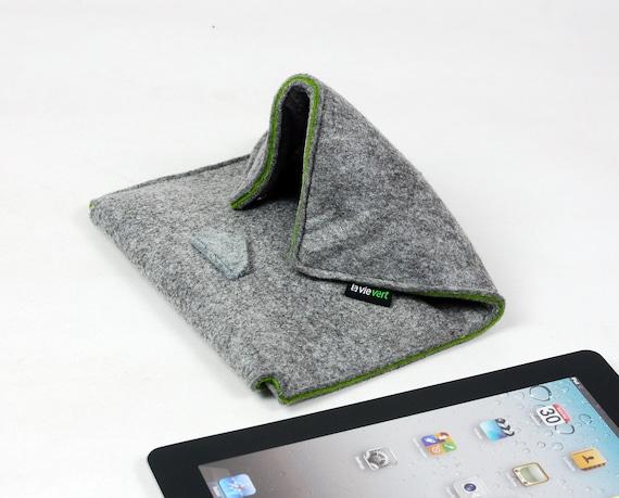 Dual Purpose Felt iPad Mat & iPad Sleeve Special design for iPad Pro Case iPad Cover Custom Made Stand for iPad 2 3 4 E568-LGra01