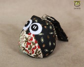 Savvy - Cute Owl Doll with a Bag: owl plush, owl decor, little, mini, kid, flower, black, white, owl decoration, kawaii, iammie
