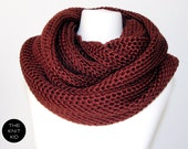 merino infinity scarf oxblood circle loop snood cowl circle scarf theknitkid the knit kid