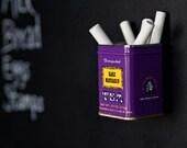 Vintage Tea Tin Magnetic Chalk Holder Pencil Cup Chalkboard