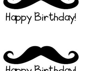 Happy Birthday Mustaches