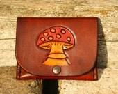 Leather Mushroom Purse - FREE UK POSTAGE