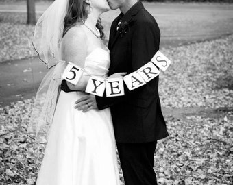 Anniversary Banner - Wedding Gift for Bride & Groom - Wedding Anniversary