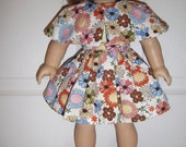 "4 Piece Cape, Blouse,& Skirt Set with Sandals for American Girl Doll or 18"" Dolls"