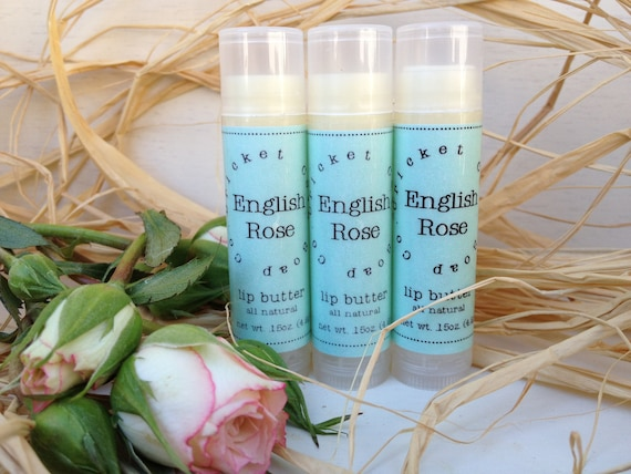 English Rose All Natural Lip Butter - Valentine's Day - lip balm - mom Rose