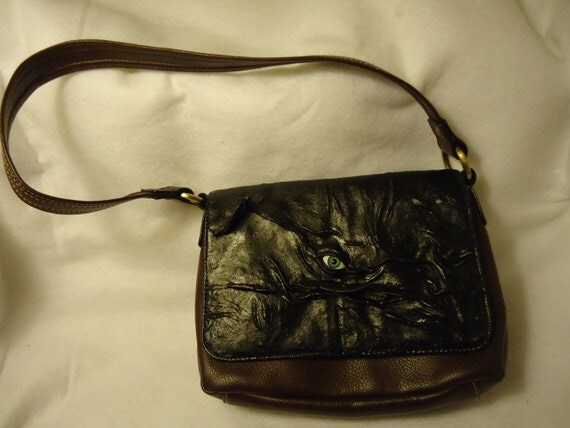 Leather Purse Goth Halloween Witch Wiccan Pagan