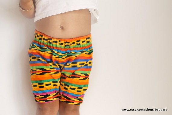 Bermuda Baby Shorts- Knee length slim cut cotton kid/toddler shorts