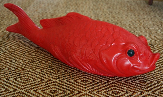 Giant Red Plastic Fish - Koi Carp Swedish Fish Bouy