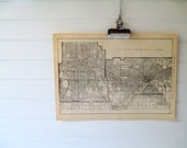 Vintage Street Map, Twin Cities Minnesota in Black and White 1923 City Map, Vintage Map Print Minneapolis St Paul