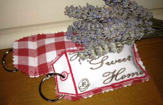 Home Sweet Home - homemade embroidery, Organic French Lavender