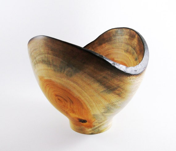 Wood Bowl No.120808 - Natural Edge Amarello Wood