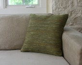 Knoll Fabric Pillows - mid century, cushions, green, woven