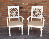 Ivory and Burlap Chairs