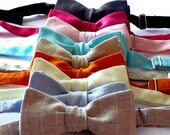 Wedding linen bowties-  classic, skinny or diamond point  - perfect for weddings and formal occasions