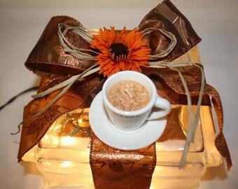 Night Light Latte Coffee Autumn Themed
