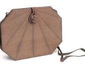 Vintage Silk Clutch Art Deco Brown Purse