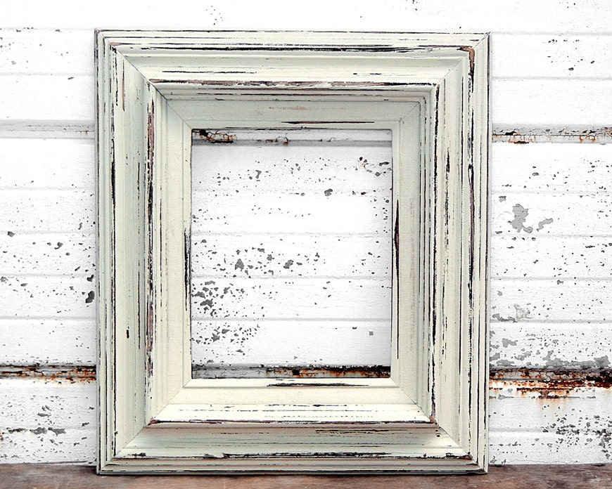 8x10 ivory frame thick wide off white cream creamy bone - White wooden picture frames ...