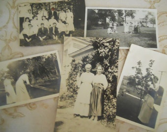 Edwardian/Victorian Antique Black and White Photo Lot