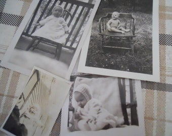1920s-40s Single Babies Antique Photo Lot No.3