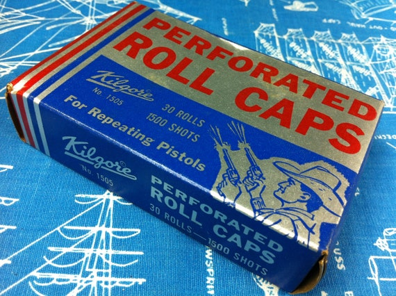 Vintage Kilgore Perforated Roll Caps For Repeating Pistols