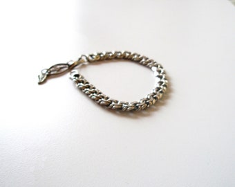 Sterling Silver Rope Bracelet Vintage  925  Solid jewelry