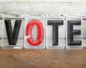 "Vintage Marquee ""VOTE"" Sign"