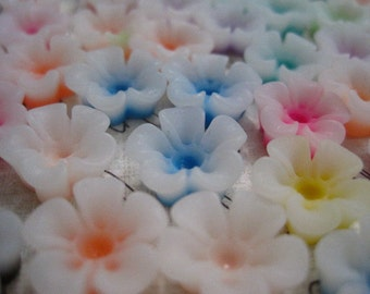 Resin Flowers / Flower Cabochons / 20 pcs Resin Roses / Mixed Lot / 13mm