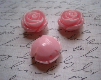 Chunky Flower Beads, 3 pcs Pink Gumball Bead, Bubblegum Bead, Necklace Bead, 21mm x 13mm, 2mm Hole for Stringing