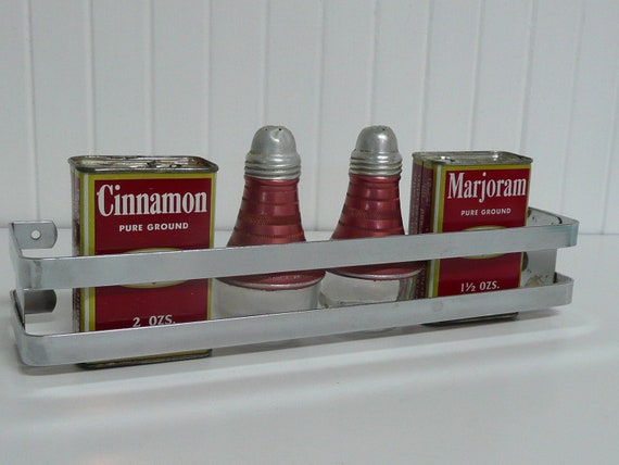 1949 NEW Old Stock Chrome Spice Rack Shelf - Vintage Travel Trailer and Home Decor