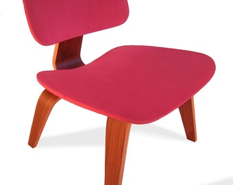 Red Seat Cover for Eames Plywood Lounge Chair - Like a 2nd Skin