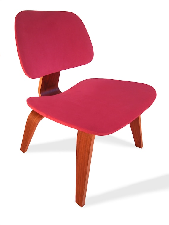 red seat cover for eames plywood lounge chair like a 2nd skin