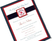 Custom Listing for Stephanie M Boston Red Sox Baseball MLB Baby Shower Invitation