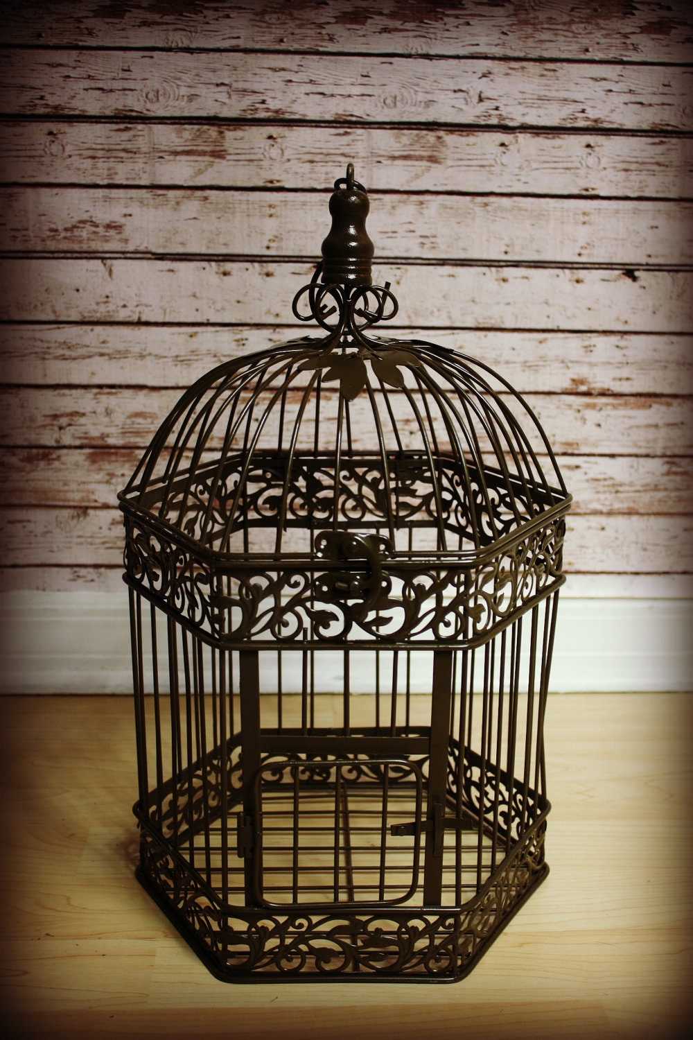 Large Vintage Bird Cage Wedding Card Holder-Home Decor-Vintage