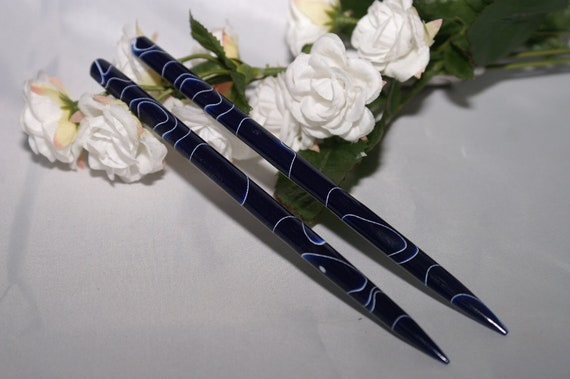 Cobalt style acrylic hair sticks / hair toys Free U.S. Shipping (1)