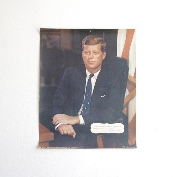 Vintage President John F Kennedy Poster - 1960's - President of the United States